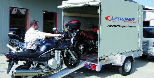 Typ QM - Motorrad-, SMART-, Universal-Transporter mit TopZurr®24