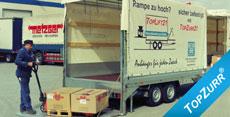 Typ LIFT - Speditions-Anhänger mit elektrohydraul. Ladebordwand + TopZurr®21