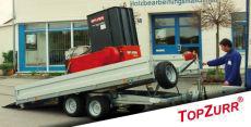 Typ TK - Speditions-Anhänger mit niedriger Ladehöhe kippbar u. Ladeklappe + TopZurr®21