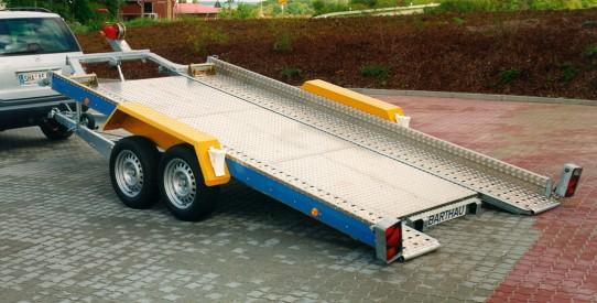 Typ AT - Autotransport-Anhänger kippbar mit Anbindeösen