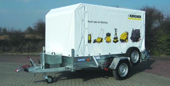 Typ ASB - Absenkbarer Einachs-Anhänger ASB aus Stahl + TopZurr®22