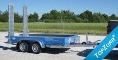 Typ BS - Geräte-Transport-Anhänger mit Rampe hochstehend + TopZurr®22