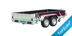 Typ GTA - Geräte-Transport-Anhänger mit Rampe hinten quer + TopZurr®22