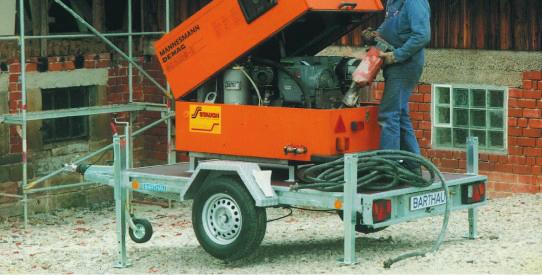 Typ MT - Minibagger-Transport-Anhänger mit Anbindeösen