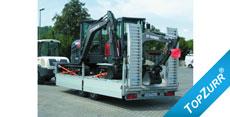 Typ LHS - Lkw-Anhänger mit Rampe und hinten abgeschrägt + TopZurr® 21