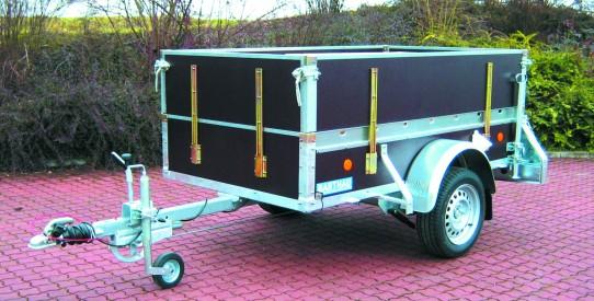Typ PK - Pkw-Anhänger gewerbl. Ausführung mit integrierter Gurtleiste
