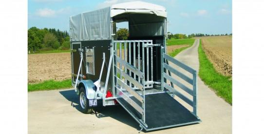 Typ VR - Vieh-Anhänger rechteckig Einachs mit Heckklappe + Anbinderingen