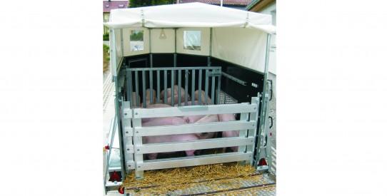 Typ VS - Vieh-Anhänger spitzig-stumpf Einachs mit Heckklappe + Anbinderingen
