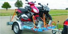 Zweiradtransport, Fahrrad - Motorrad